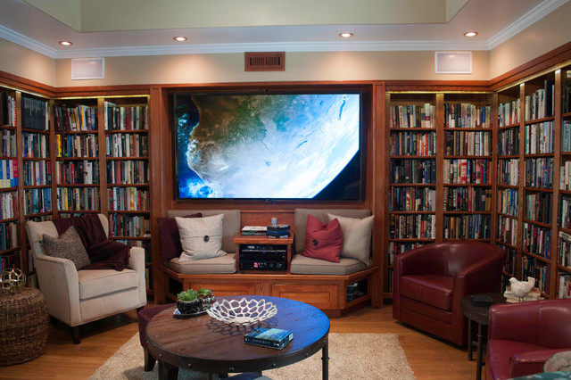 Home Theater Craftsman Idea In Los Angeles