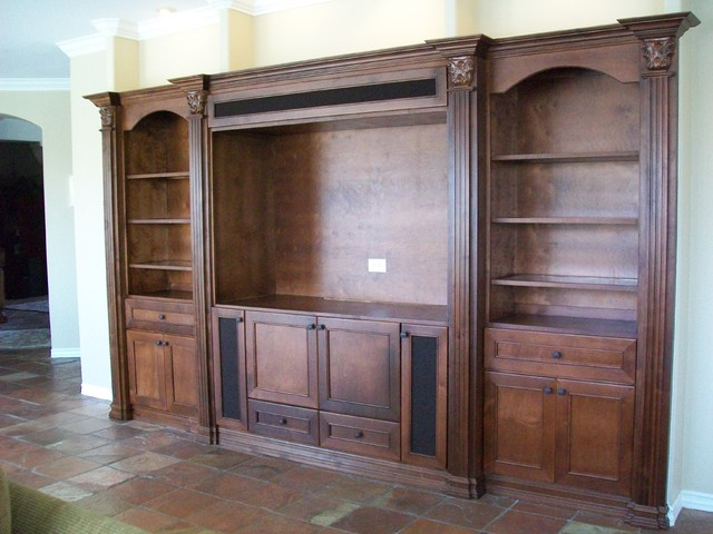 Wall unit niche for Traditional wall units