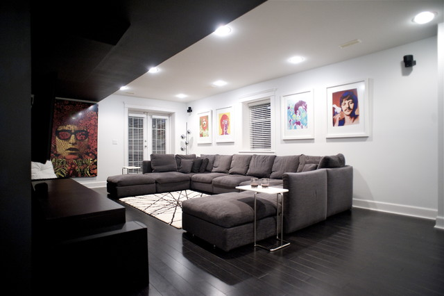 West 14th - Media Room modern-home-theater