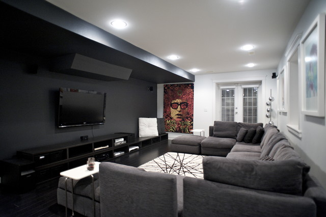West 14th Media Room Contemporary Home Theater