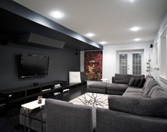 West 14th - Media Room contemporary-home-theater
