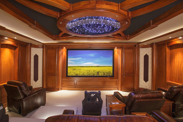 West Vancouver Waterfront traditional-home-theater