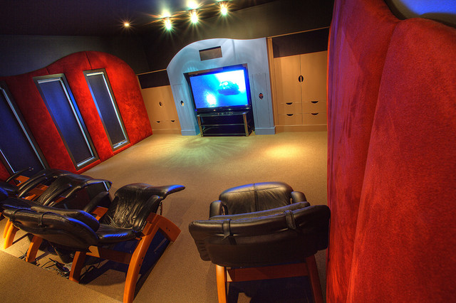 Westbluff Property contemporary-home-theater
