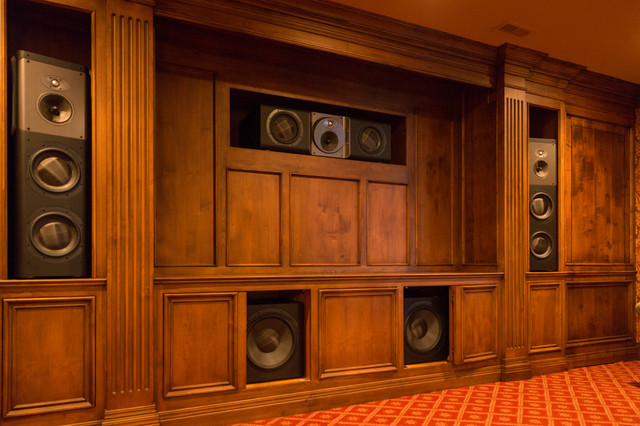 Wood Cabinet Theater Speakers