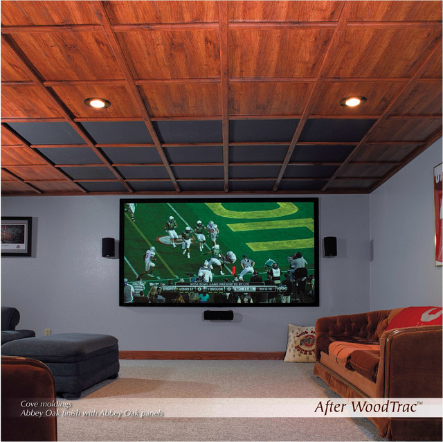 Wood Trac Ceilings contemporary-home-theater