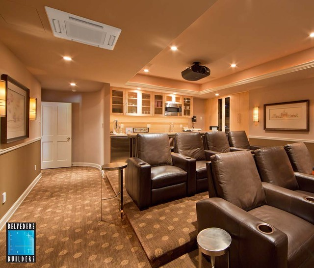 Woodinville Basement Remodel traditional-home-theater