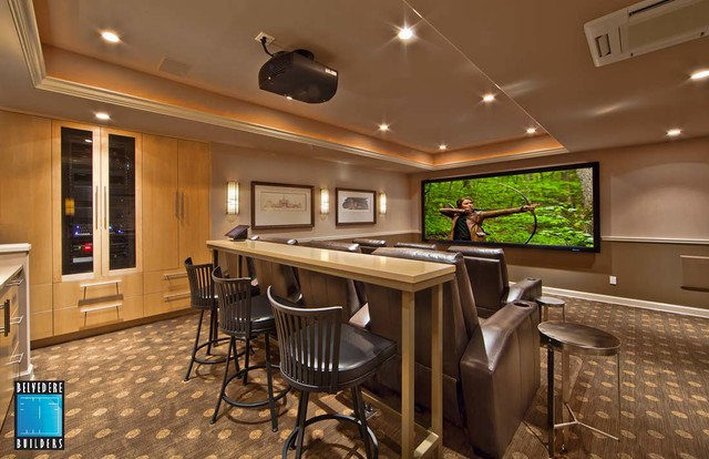 Woodinville basement remodel for Woodinville theater