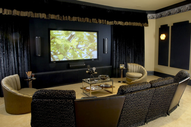 Woodley House Media Room - Eclectic - Home Theater - DC Metro - by ...