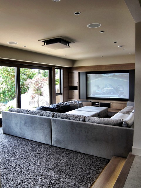 Woodvalley Residence contemporary-home-theater