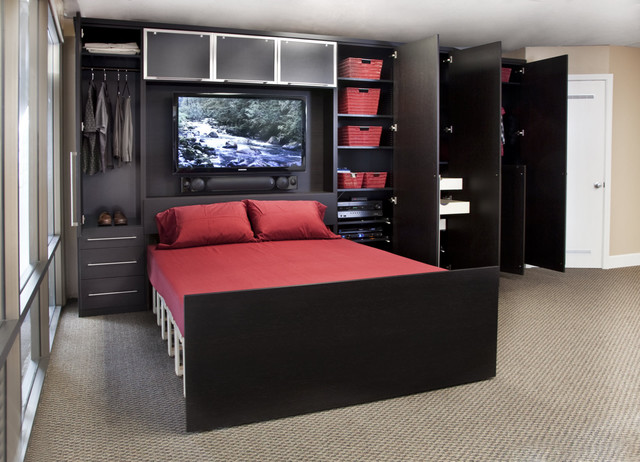 Zoom Room Wall Bed amp Custom Cabinetry Contemporary