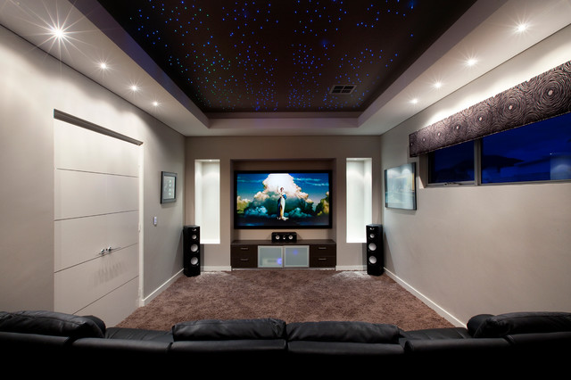 Arabella Loop - Contemporary - Home Theater - Perth - by Daniel ...