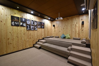 Rajesh Ji Contemporary Home Theatre Other By Manish Kumat Design Cell Houzz Au