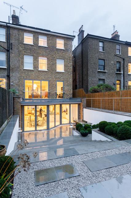 Advantage basements london transitional exterior for Advantage basements