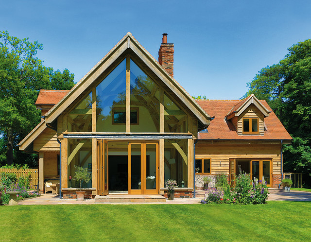 Beautiful oak frame houses for Oak framed house designs