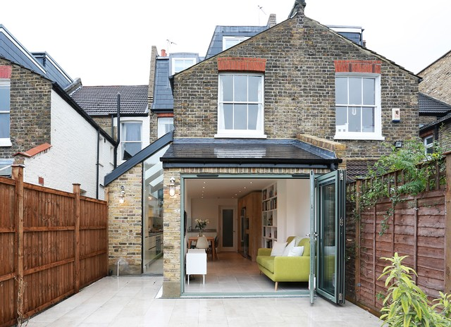 Before  amp  After   Kitchen extension in Balham   Contemporary   Exterior