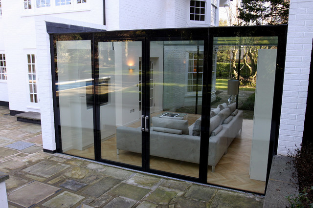 Bishops avenue contemporary exterior london by iq for Modern glass porch designs