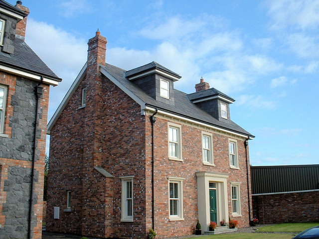 Townhouse development in antrim traditional exterior for Townhouse exterior design