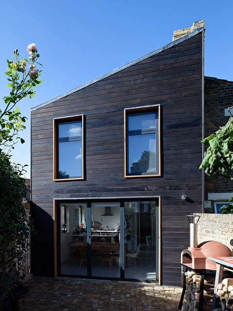 Burnt Cedar Shousugiban Cladding On A London Town House In