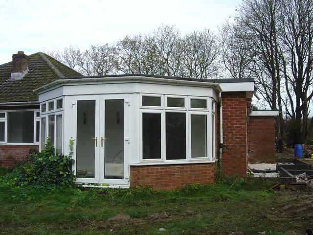 Chalet bungalow conversion modern exterior hampshire for Chalet bungalow designs