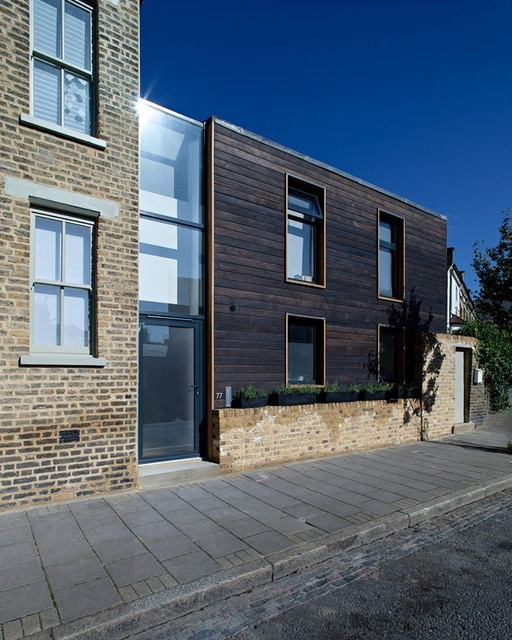 Charred Cedar Shousugiban Cladding Of A London Town House