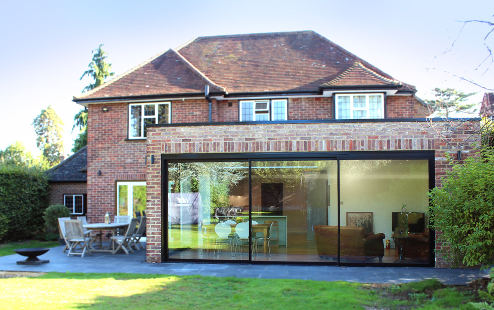 Contemporary Flat Roof Extension Contemporary Exterior Hampshire By Bastion