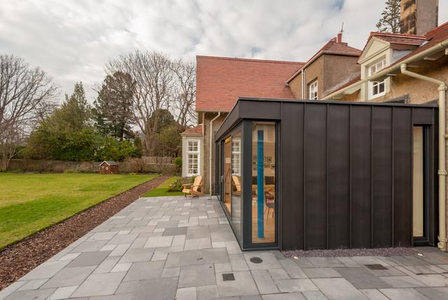 Contemporary zinc clad extension edinburgh contemporary for Modern zinc houses