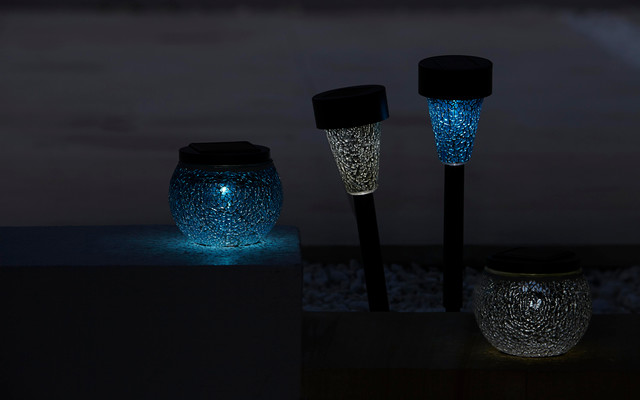 Eaton LED Solar Powered Outdoor Lights contemporary-exterior