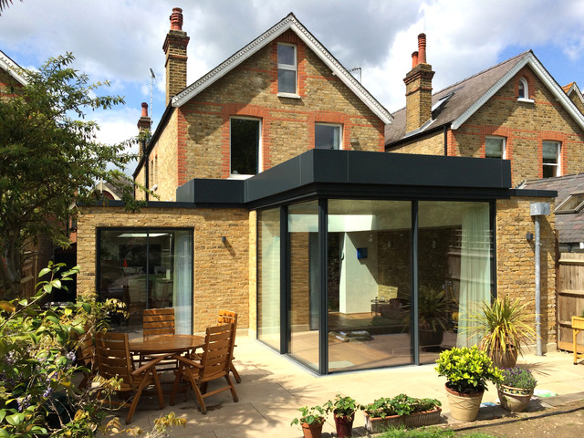 extension richmond park contemporary exterior london by 2pm architects. Black Bedroom Furniture Sets. Home Design Ideas