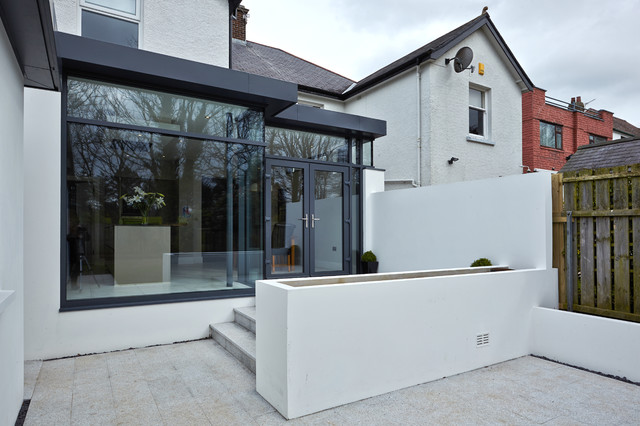Extension to semi detached house bangor northern ireland contemporary exterior belfast Leon house kitchen design