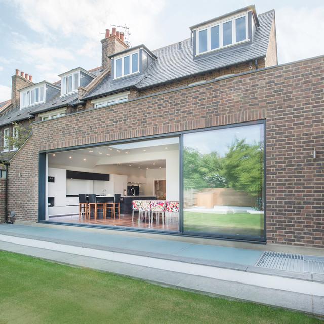 Kitchen Extension Ideas For Bungalows: Fabulous Kitchen Extension Spanning The Width Of The House