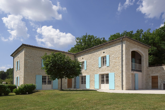 French Country House Farmhouse Exterior Other By