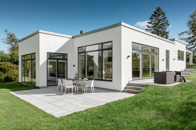 Funkis med gaspejs skandinavisk hus facade aarhus for Funkis house