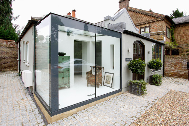 Glass Box Extensions Eclectic Exterior