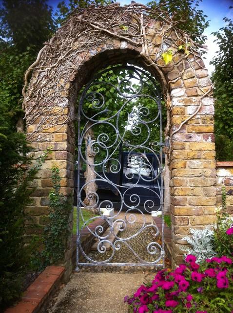 Hand forged garden gate traditional exterior london for Garden door designs