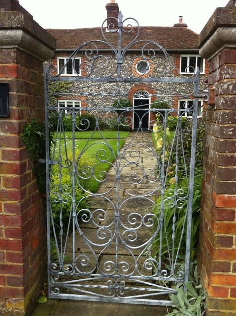 Hand forged garden gate traditional exterior london