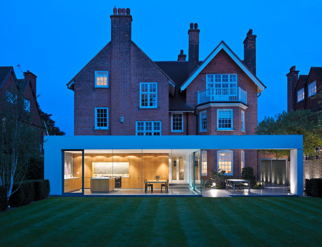 House extension renovation wimbledon modern exterior for Modern architecture house london