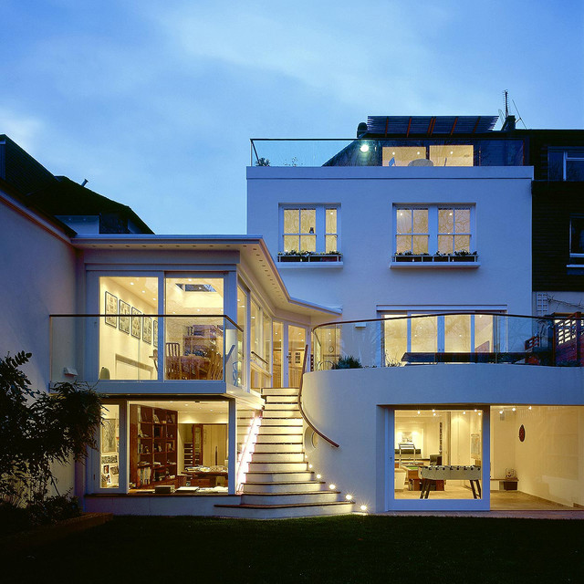 House With Basement Hampstead Custom Basement Lighting Design Exterior