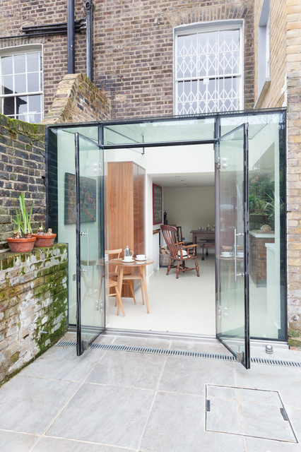 Islington glass box extension contemporary exterior for Modern glass porch designs