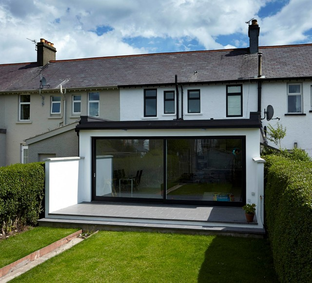 mid terrace extension bangor contemporary exterior
