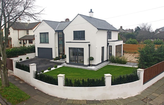 Modern house remodelling modern exterior manchester for Modern house designs uk