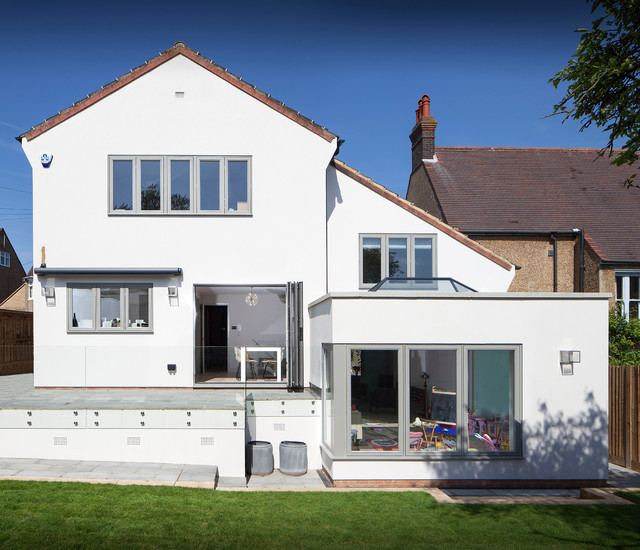 Modern Makeover To A 1980 S House Traditional Exterior