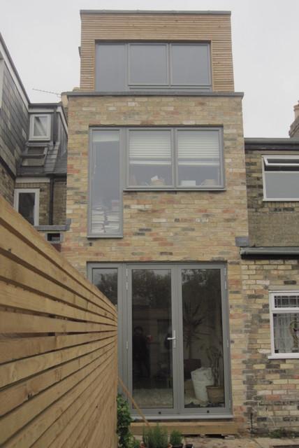 Narrow House Contemporary Exterior London By Barr