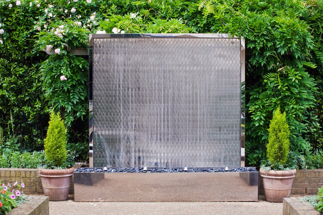 Contemporary Backyard Waterfalls : Outdoor+Waterfalls+Wall petal wall fountain contemporary outdoor