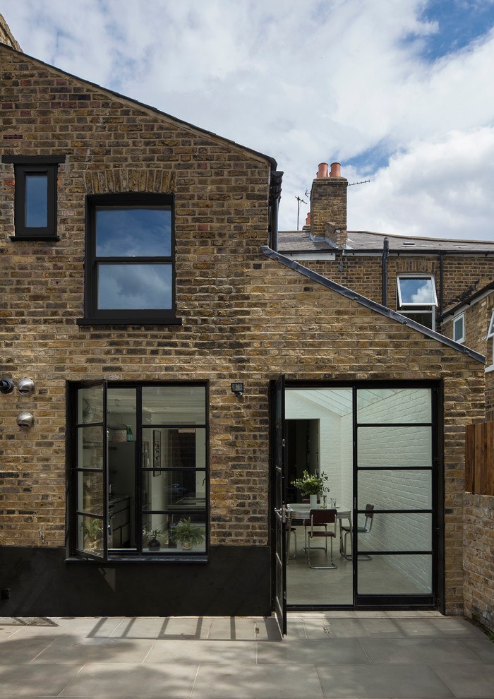 Contemporary brick exterior in London.