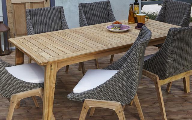 Rattan Effect Furniture   Garden Furniture. Rattan Effect Garden Dining Furniture   Modrox com