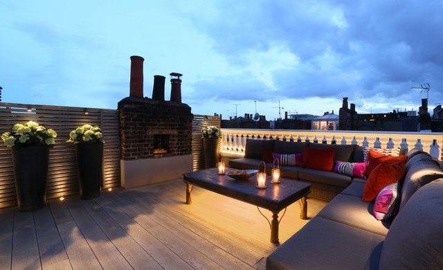Roof Terrace Lighting Contemporary Exterior London