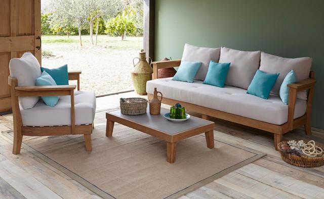 Roscana Wooden Coffee Set Contemporary Exterior