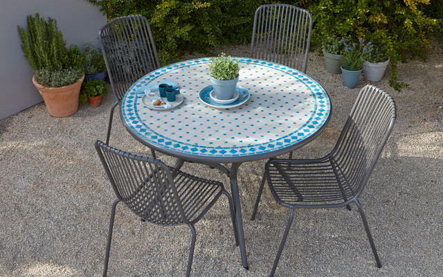 Silene Metal Dining Set contemporary exterior. Silene Metal Dining Set   Contemporary   Exterior   London   by B Q
