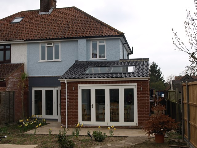 Small extension norwich transitional exterior other for Garden room designs norwich