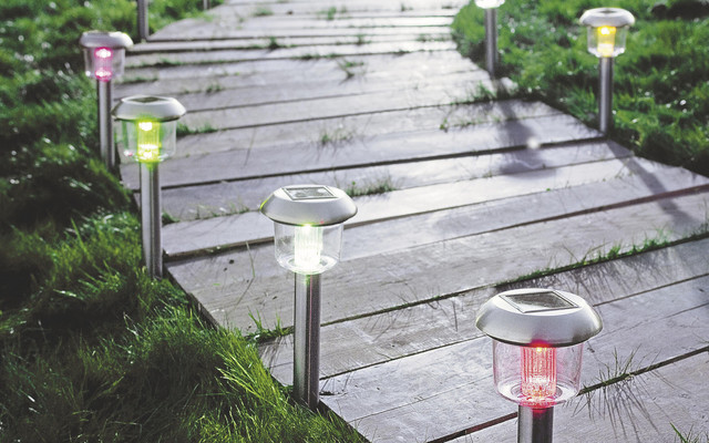 Solar Post Lights Contemporary Exterior